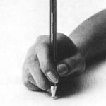 美文字ペンの持ち方